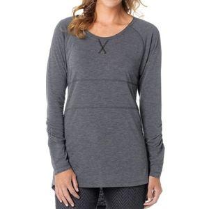 prAna Ada long sleeve tunic T-shirt grey small